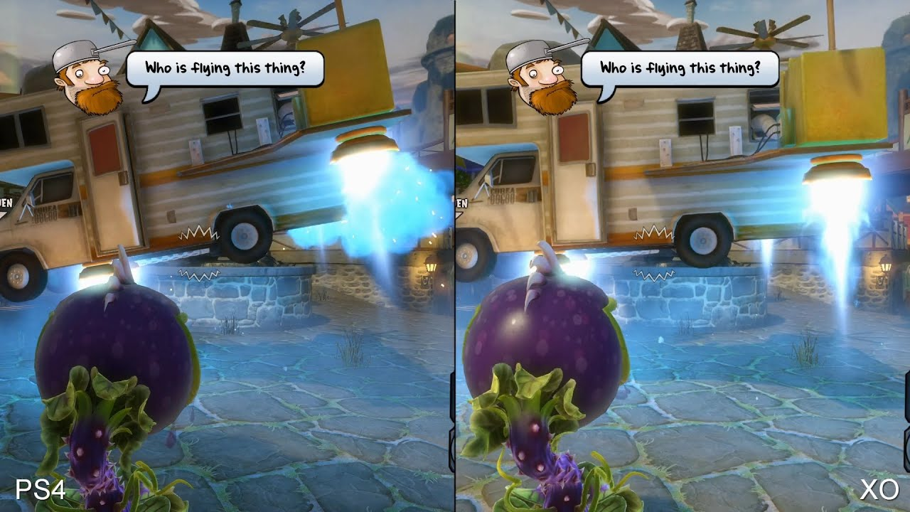 Plants Vs Zombies Garden Warfare Ps4 Vs Xbox One Comparison Youtube
