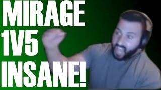 MONSTER 1V5 ON MIRAGE! CS:GO - mOE!