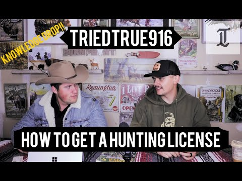 How To Get A Hunting License In  California. Knowledge Drop Series Ep.1 #triedtrue916 #howto