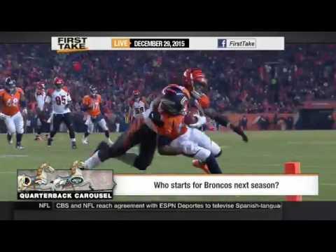ESPN First Take 12 29 15   Dallas Cowboys QB   Kellen Moore starter over Cassel vs  Redskins   NFL