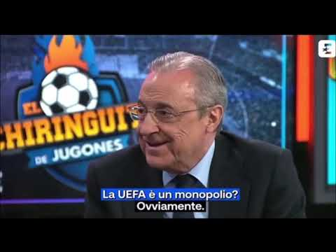 Florentino Peres, presidente del Real Madrid parla della SuperLeague