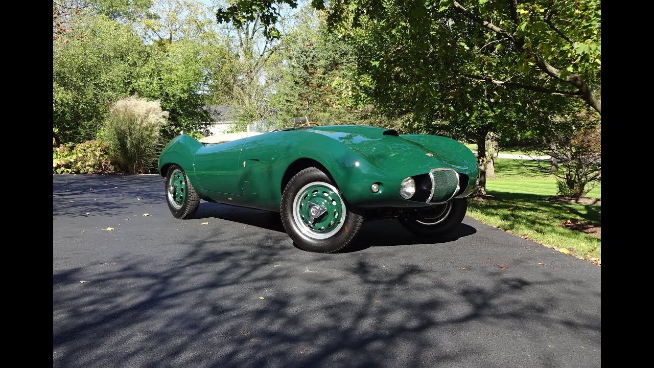 1954 arnolt bristol bolide roadster in green engine sound on my car story with lou costabile