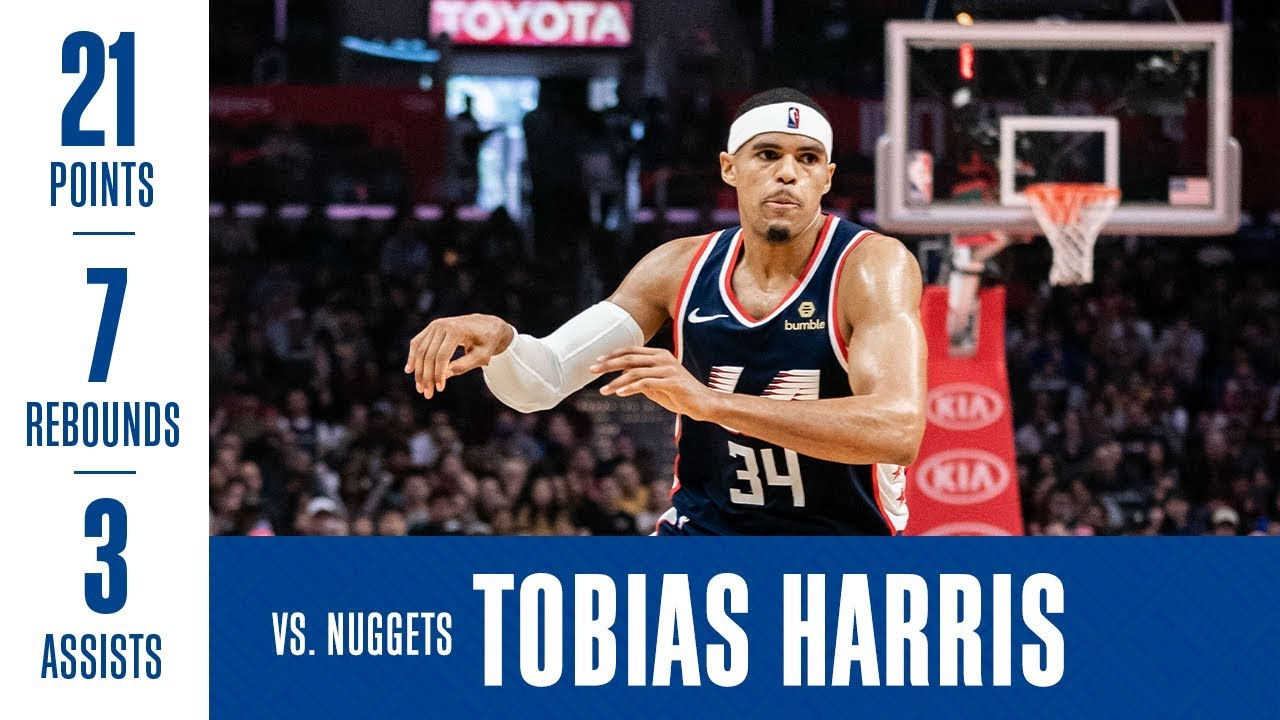 Image result for tobias harris vs nuggets