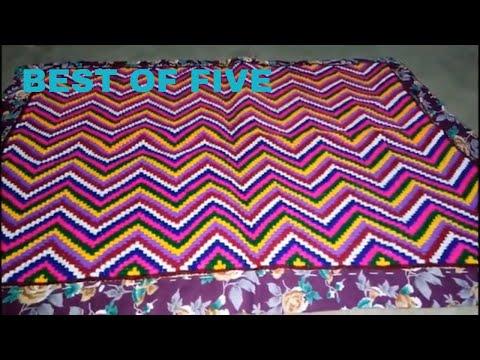 5 Unique Types Cross Stitch Floor Mat Design Idea   ason Design   Hand Embroidery Design   Satin Art
