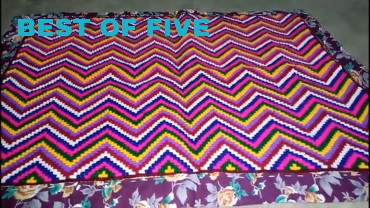 5 Unique Types Cross Stitch Floor Mat Design Idea | ason Design | Hand  Embroidery Design | Satin Art