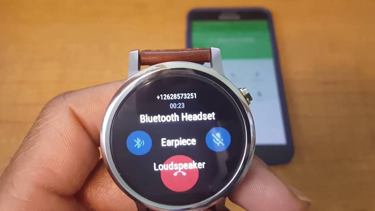 Googles Android Wear Smartwatch (New features) Answering phone calls made  easy. d02d1e709