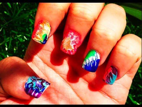 Diy tie dye nail art youtube prinsesfo Choice Image