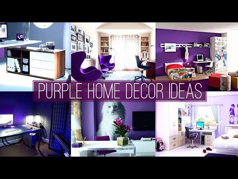 5 Purple home decor ideas