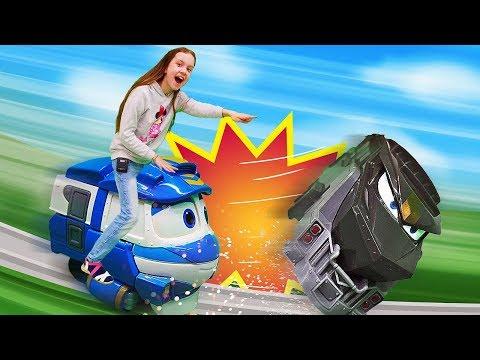Роботы поезда: Дюк ищет кристалл. Детское шоу Охотники за игрушками