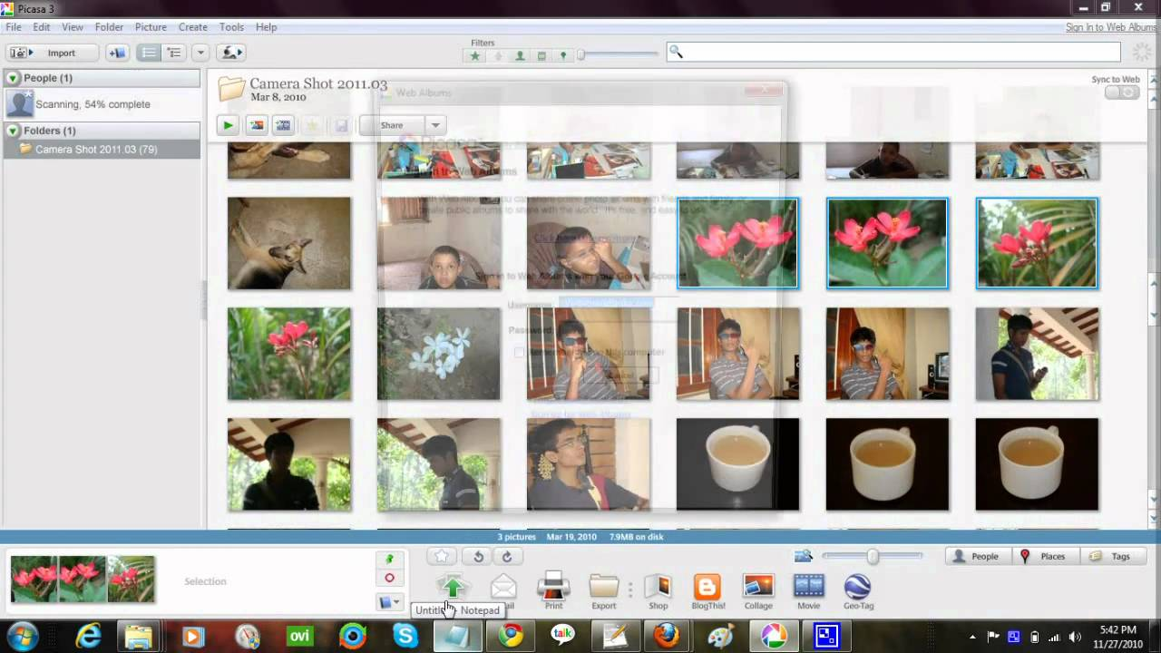upload image to google picasa web album using picasa software step rh youtube com Windows Photo Gallery picasa user guide pdf