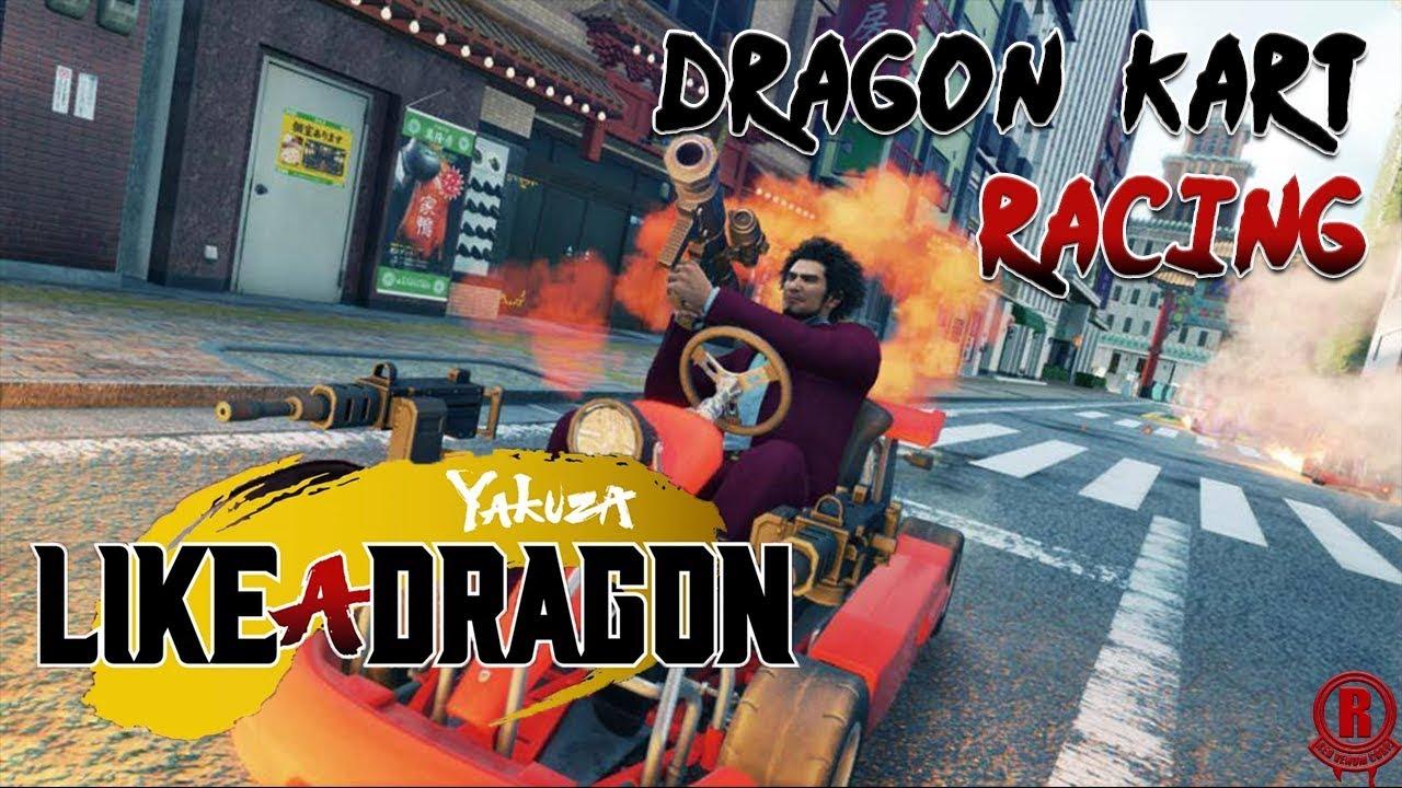 Yakuza 7 Like A Dragon Ps4 Pro Dragon Kart Racing Gameplay 1080p 60fps Youtube