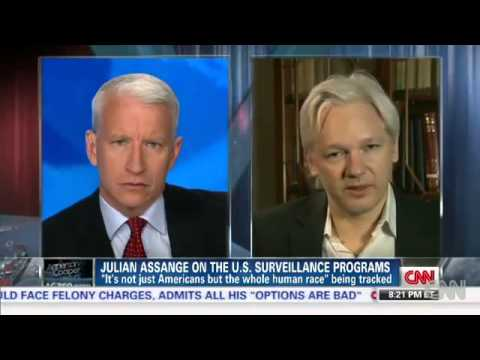 Julian Assange on Edward Snowden, NSA Leaks and Bradley Manning   AC360 06   10   2013