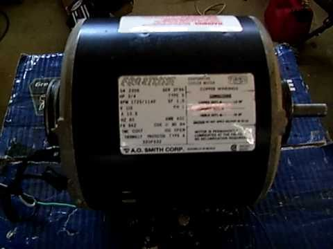 hqdefault electric motor 3 4hp youtube howell electric motor wiring diagram at soozxer.org