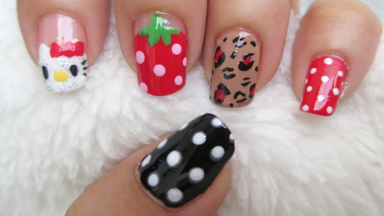 Funky Nail Art Ideas For Real Nails 2 Collection - Nail Art Ideas ...