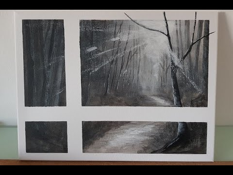 Acrylic Landscape Painting on Canvas #001 // Step by Step