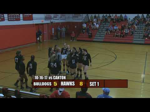 Milford Lady Hawks Volleyball - October 16, 2017 vs Canton