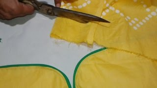 Kameez sleeves cutting and stitching in hindi