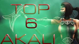 League Of Legends The Best 6 Pentakill Ofs Akali