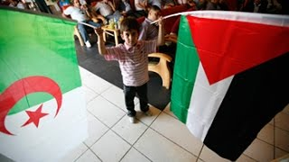 نصرة الجزائر لاخوانها في فلسطين مؤثر .. قافلة الجزائر غزة (لجنة الاغاثة)
