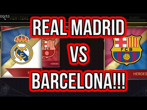 REAL MADRID VS BARCELONA - FIFA MOBILE TEAM HEROES PACK OPENING!!!