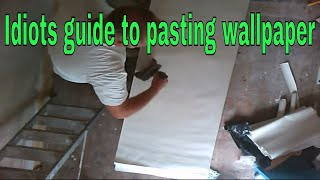 How to paste and fold lining paper, masterclass tutorial,expert