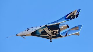 Virgin Galactic tourism spaceship reaches edge of space for first time