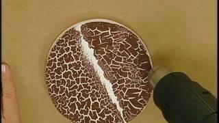 Técnica craquelê - Artesanato - Acrilex