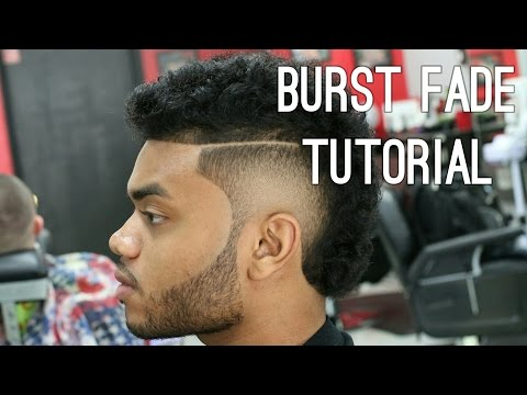 USHER HAIRCUT burst fade w Long Curly Hair