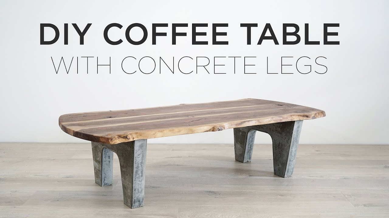 Diy Coffee Table With Concrete Legs Youtube