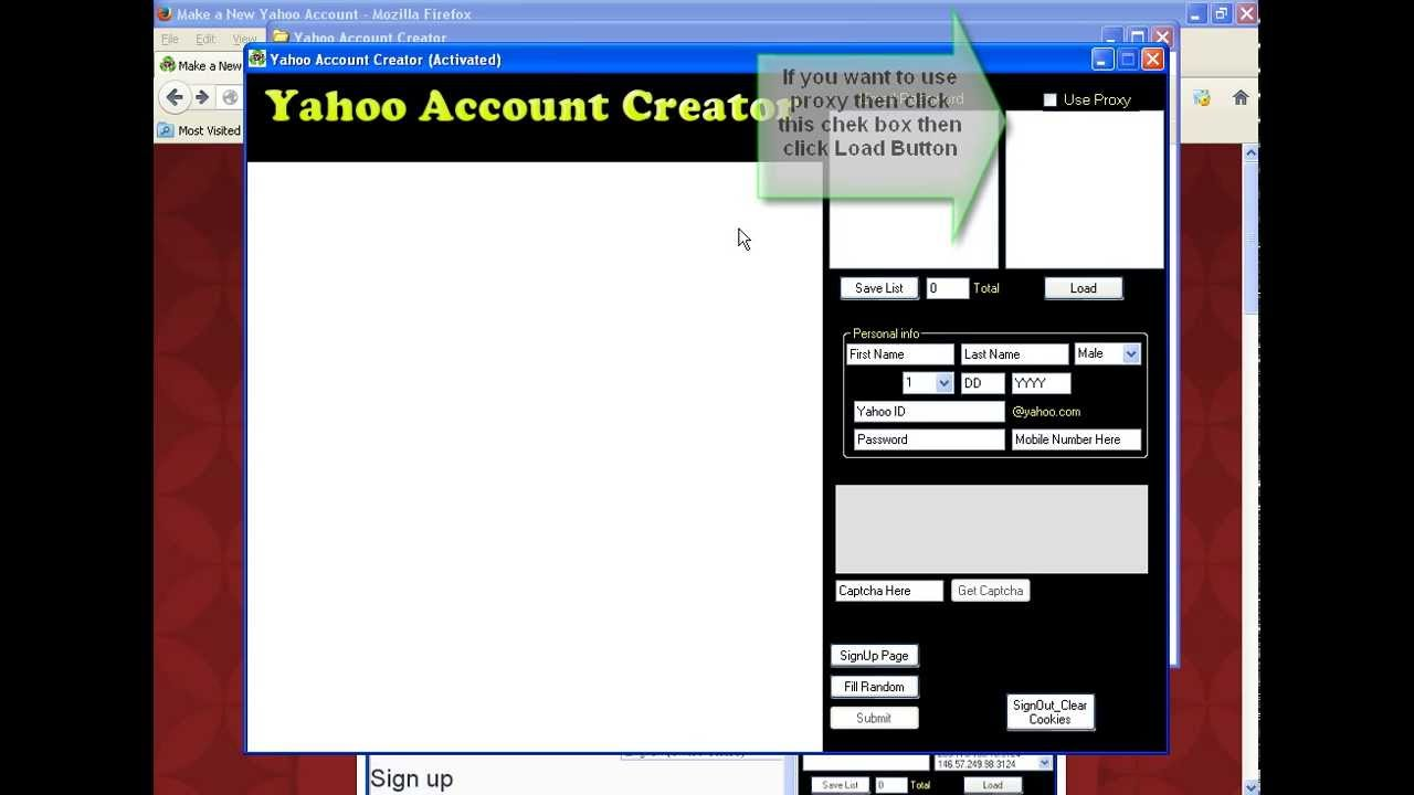 how to get new yahoo mail account