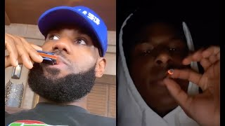Lebron James Reacts To His Son Bronny Smoking Zaza On Live