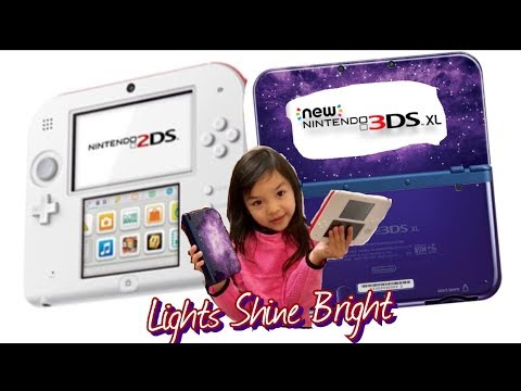 Nintendo 2DS & 3DS XL Unboxing GameReview Family Fun Q Kids Lights Shine Bright Channel