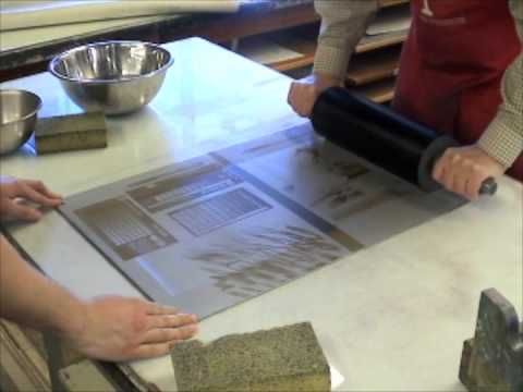 Printing Quality Lithographs Using an Etching Press