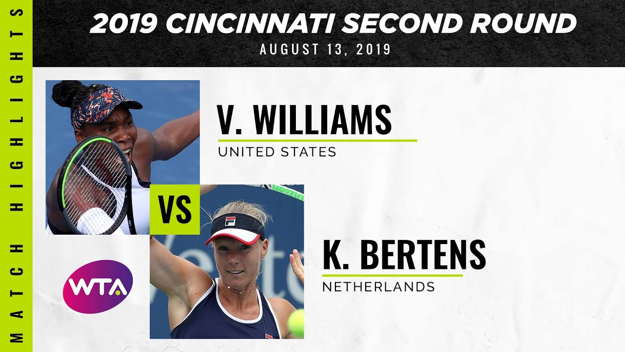 Venus Williams vs. Kiki Bertens | 2019 Western & Southern Open Second Round | WTA Highlights