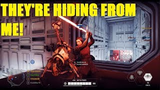 Star Wars Battlefront 2 - So scared of Grievous they didn't leave the spawn XD (2 games)