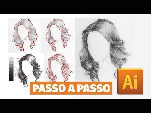 TUTORIAL DE CABELO: como desenhar cabelo no Adobe Illustrator thumbnail