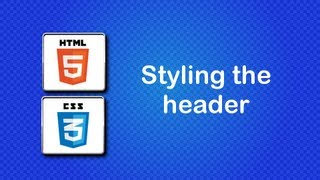 HTML5 and CSS3 Beginner Tutorial 38 - Creating the header layout