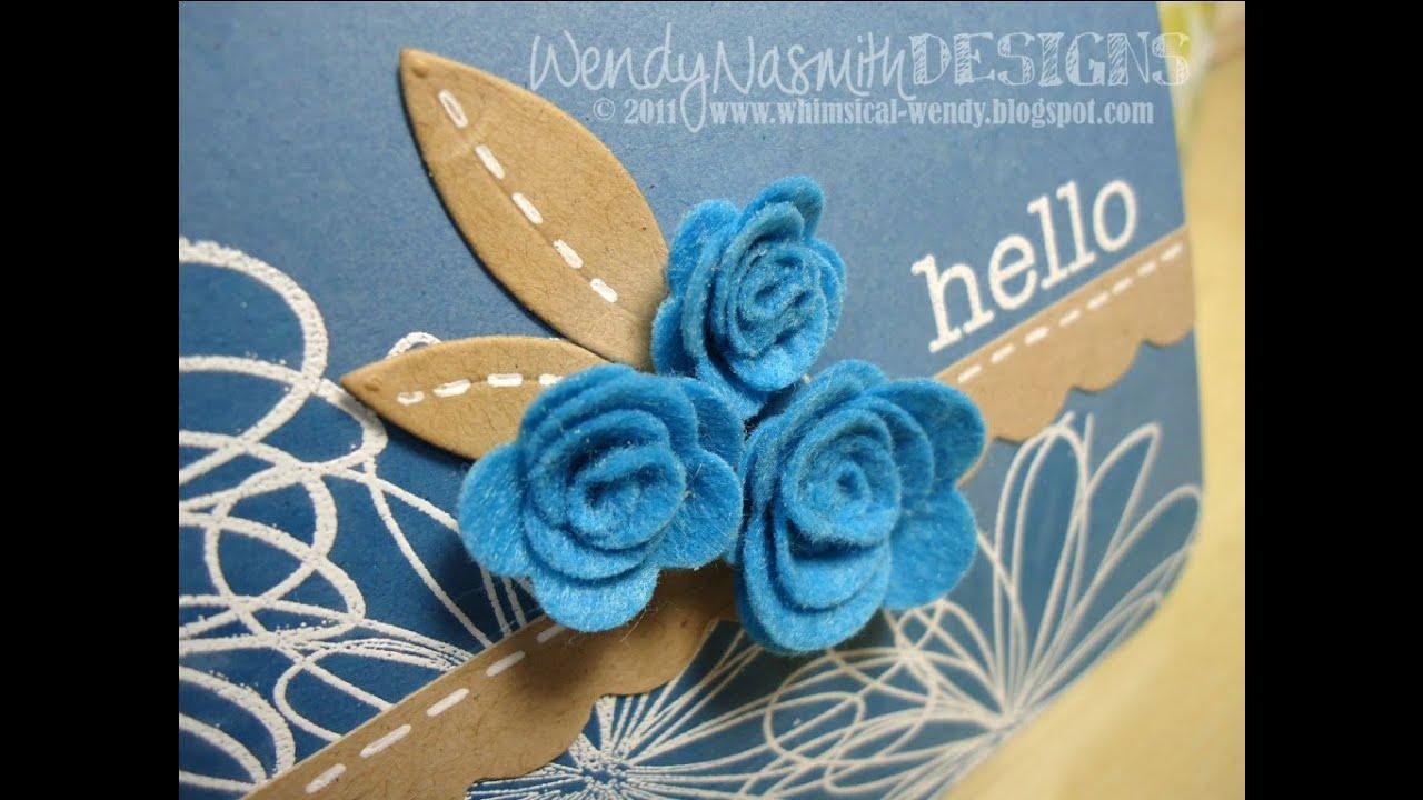 Card Tutorial Amp Mft Mini Rolled Roses Die Namics Demo