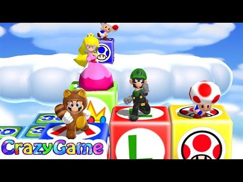 Mario Party 9 High Rollers - Mario vs Luigi vs Peach vs Toad (Master CPU)