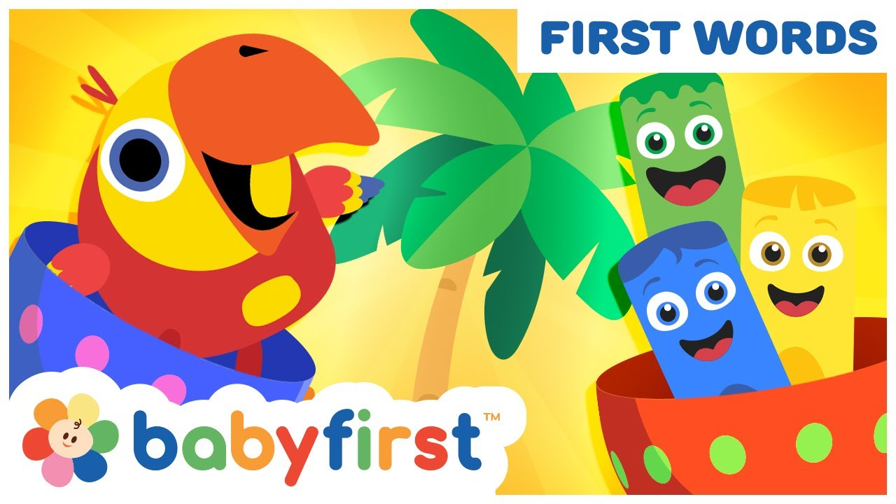 Toddler Learning Video Words w Color Crew & Larry | Learn Colors & Vocabulary for kids |BabyFirst TV