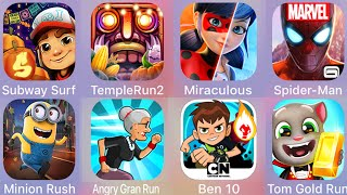 Subway Surf,Temple Run,Spiderman Unlimited,Miraculous,Tom Gold Run,Ben 10,Angry Gran Run,Minion Rush screenshot 4