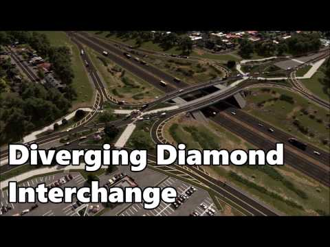 cities-skylines:-diverging-diamond-interchange-build
