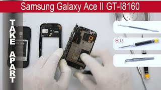 How to disassemble Samsung Galaxy Ace 2 I8160, Take Apart, Tutorial(How to disassemble Samsung Galaxy Ace II I8160 by himself. Disassembly (take apart) and repair smartphone Samsung I8160 at home with a minimal set of ..., 2015-06-07T00:10:42.000Z)