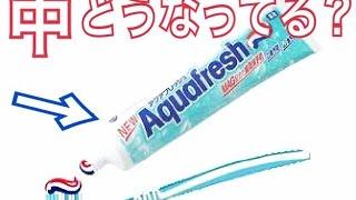 歯磨き粉アクアフレッシュの中ってどうなってるの?