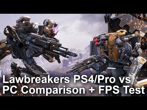[4K] Lawbreakers PS4/Pro vs PC Graphics Comparison + Frame-Rate Test