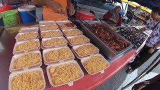 Malaysia Street Food 54 Part.2 Nasi Ayam Madu Pasar Malam Sri Gombak  YN010358