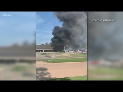 New video of Addison plane crash that left 10 dead