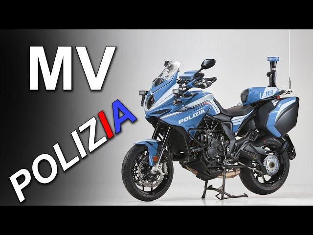 MV Agusta Police Motorcycle! Turismo Veloce Lusso SCS 'Polizia'
