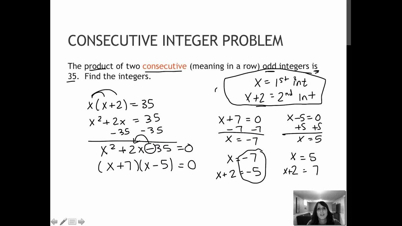73 Quadratic Equation Application