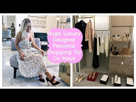 Huge Luxury Personal Shopping Designer Try On Haul At Selfridges , Come Shopping In Manchester Vlog!